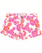 Shorts - DAISY PRINTED SHORTS (7-16)