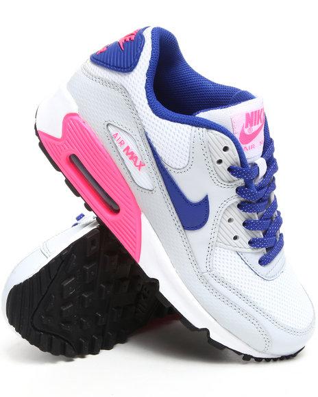 Nike Girls White Air Max 90 Sneakers (Grade-school Kids)