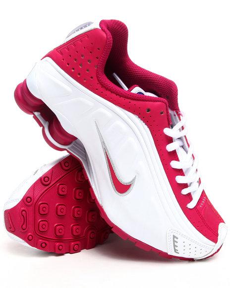 Nike Girls White Nike Shox R4 Sneakers (Grade-school Kids)
