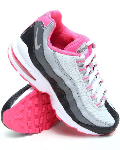 Nike Girls Grey Air Max 95 Le Sneakers (Grade-school Kids)