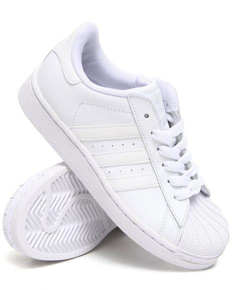 Adidas Boys White Superstar 2 Sneakers (Preschool kids)