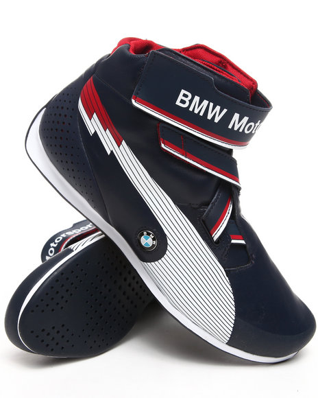 Puma Men Blue Evospeed Mid Bmw Sneakers