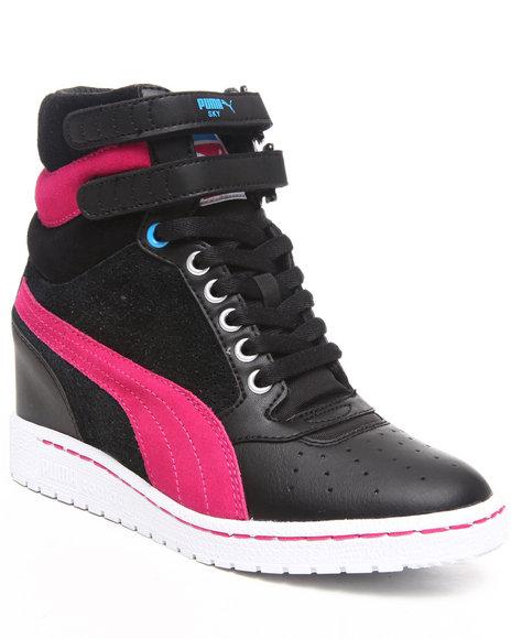 Puma Women Black Sky Wedge Wns Sneakers
