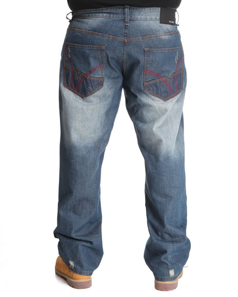 Rocawear Men Medium Wash Boss Jeans (B&T)