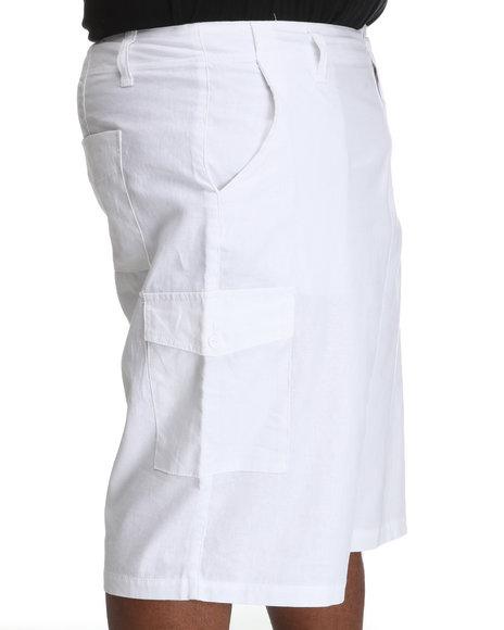Rocawear Men White Break Into Spring Linen Shorts