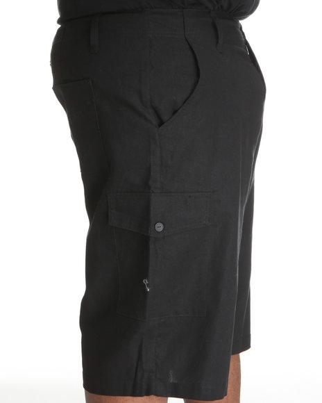 Rocawear Men Black Break Into Spring Linen Shorts