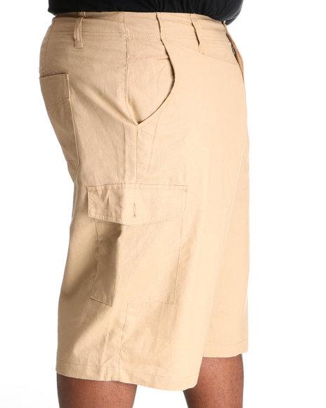 Rocawear Men Khaki Break Into Spring Linen Shorts