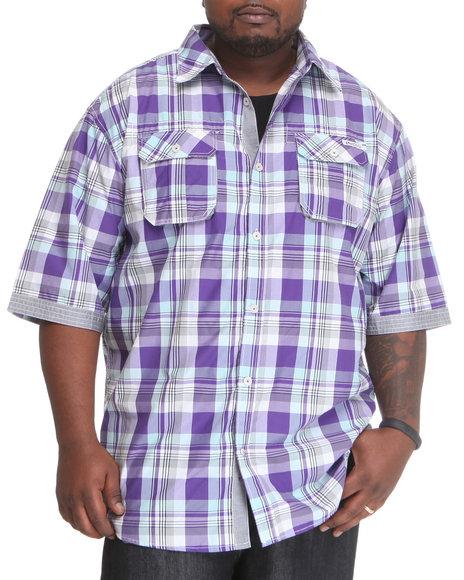 Enyce Men Purple Glide Short Sleeve Woven (B&T)