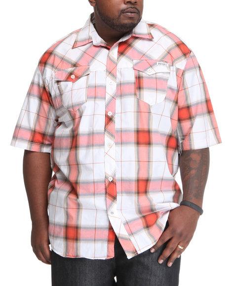 Enyce Men Orange Plaidter Short Sleeve Woven (B&T)