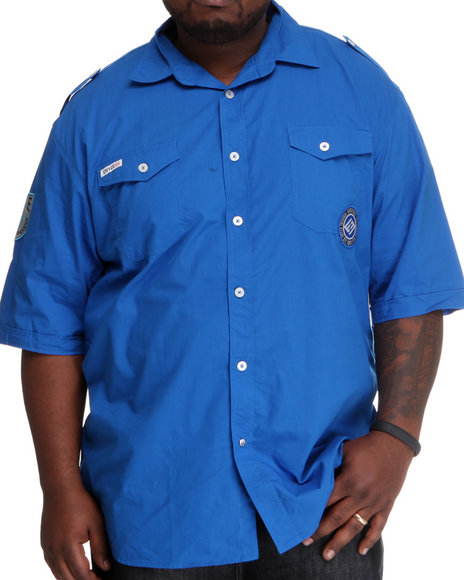 Enyce Men Blue Safty Short Sleeve Woven(B&T)