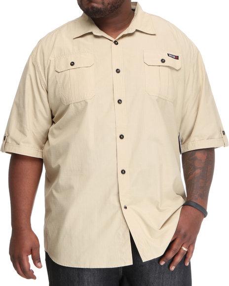 Enyce Men Khaki Bomber Short Sleeve Woven (B&T)