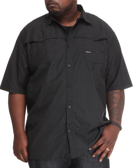 Enyce Men Black Shift Short Sleeve Woven (B&T)