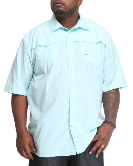 Enyce Men Blue Shift Short Sleeve Woven (B&T)