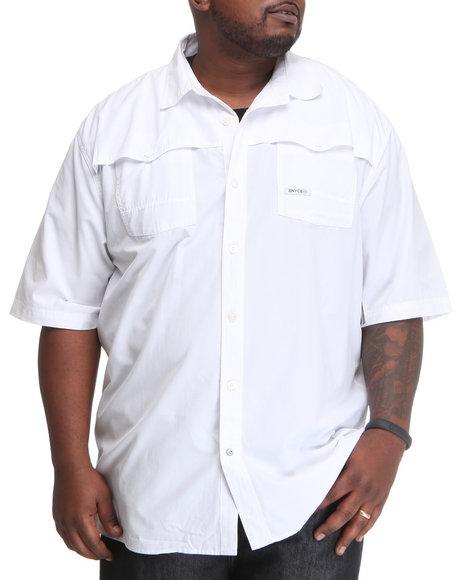 Enyce Men White Shift Short Sleeve Woven (B&T)