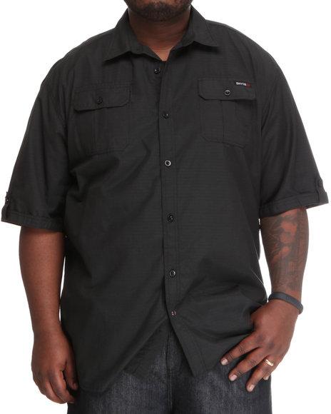 Enyce Men Black Bomber Short Sleeve Woven (B&T)