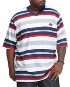 Enyce - Multi Stripe Short Sleeve V-Neck (B&T)