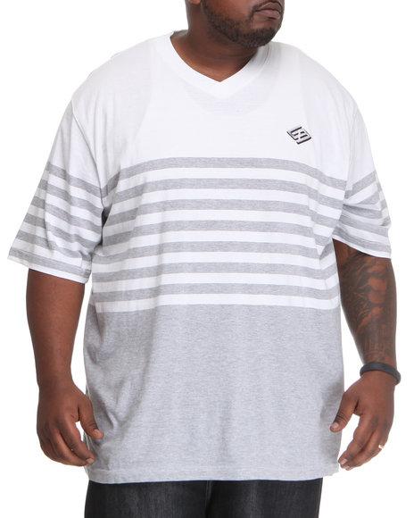 Enyce Men Grey,White Lane Short Sleeve V-Neck (B&T)