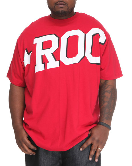 Rocawear Men Red Roc Star S/S Tee (B&T)