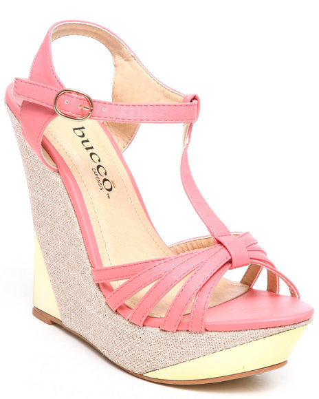 Fashion Lab Pink Tyler Wedge W/Plate