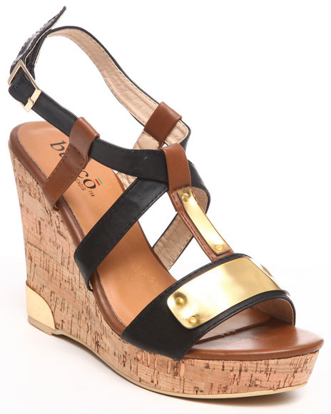 Fashion Lab Women Black Silvi Wedge