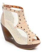 Fashion Lab - Pacha Peep Toe Donut Mesh Wedge