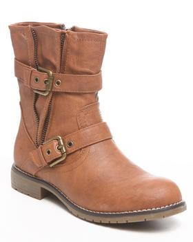 Fashion Lab - Adine Ankle Bootie w/zipper buckle