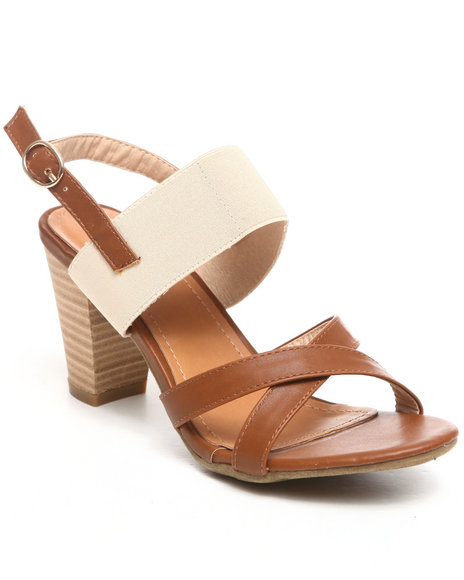 Fashion Lab - Women Beige Flavia Kitten Heel Sandal - $17.99