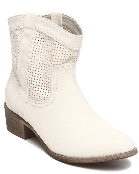 Fashion Lab - Women Beige Kenelly Mesh Inspired Bootie