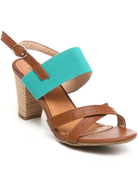 Fashion Lab - Women Green Flavia Kitten Heel Sandal
