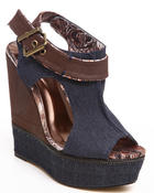 Fashion Lab - Cadena Wedge Platform w/zipper strap