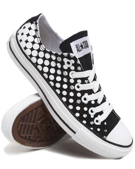 Converse Women Black Chuck Taylor Dots All Star Sneakers