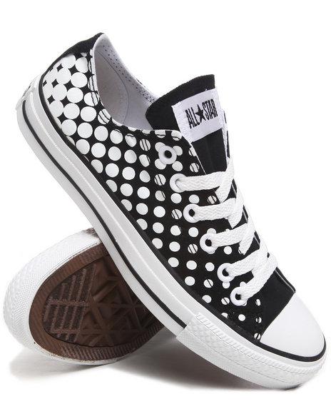 Converse Women Black Chuck Taylor Dots All Star Sneakers