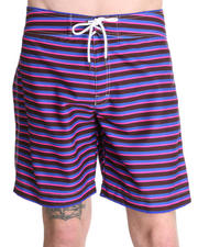"-FEATURES- - Multi Stripe 8"" Ixtapa Print Swim Trunk"