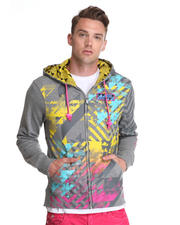 Hoodies - Warhol Multi Print/Embroidery/ Patch Zip up Hoodie