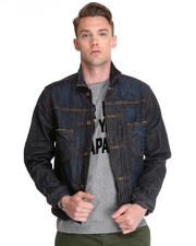 -FEATURES- - Baked Detail One Year Wash Denim Jacket