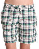 Bottoms - Plaid Shorts