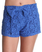 Bottoms - Zoey Crochet Shorts w/bow
