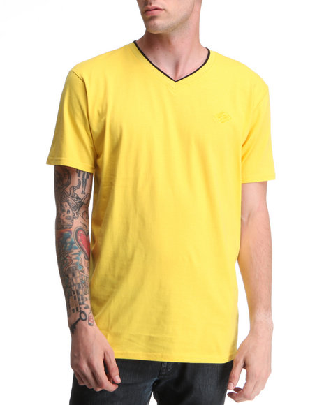 Enyce Men Yellow High Road Short Sleeve V-Neck
