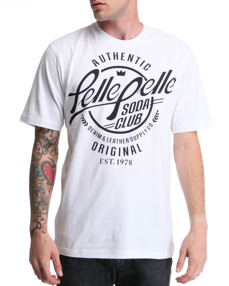 Pelle Pelle Men White S/S Soda Club Tee