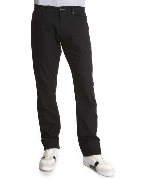 Fourstar Men Black O'neill Signature Stretch Straight Slim Fit Pants