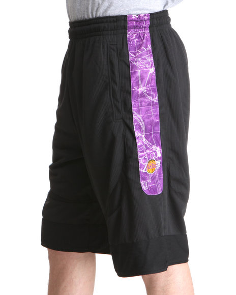Nba, Mlb, Nfl Gear - Men Black Los Angeles Lakers Blueprint Shorts