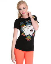 Lady Baltimore - Royalty Short Sleeve Crew Tee w/stones