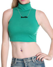 Tops - Sleeveless Crop Top