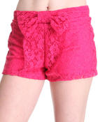 Fashion Lab - Zoey Crochet Shorts w/bow