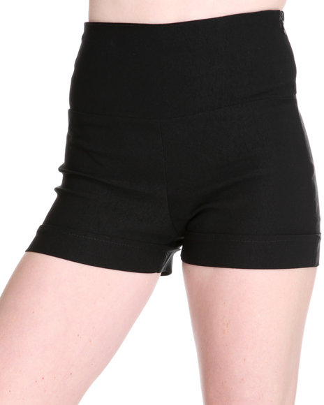 Fashion Lab Women Black High Waisted Short