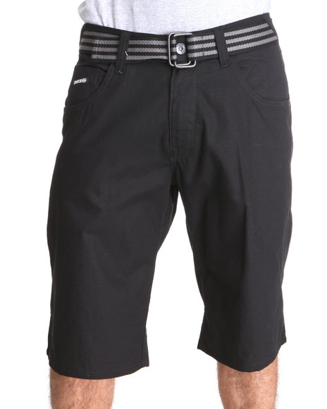 Enyce Men Black Hr Rib Stop Shorts