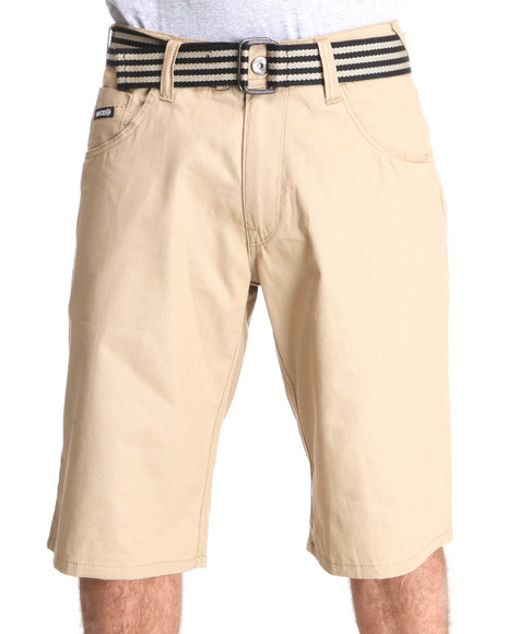 Enyce Men Khaki Hr Rib Stop Shorts