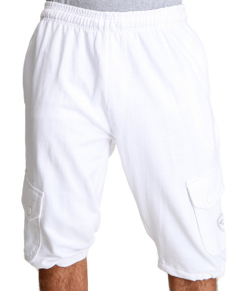 Enyce Men White Covert Cargo Short