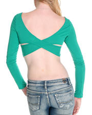 Fashion Lab - Cross Back Crop Top