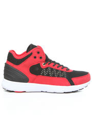 Shoes - Owen Mid Red Microfiber/Black Mesh Sneakers
